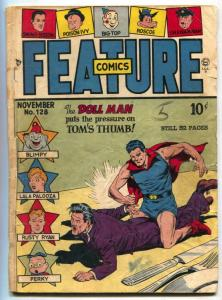 Feature Comics #128 1948- DOLL MAN- Golden Age G
