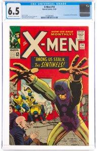 X-Men #14 (Marvel, 1965) CGC Graded 6.5