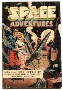 Space Adventures #7 1953-Sex change-Transformation story- Rare Charlton G+
