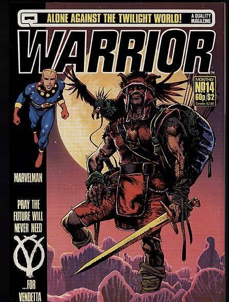 WARRIOR (1982 QUALITY) 14 A MOORE, V FOR VENDETTA VF-NM
