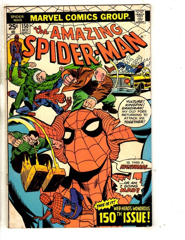 Amazing Spider-Man # 150 FN/VF Marvel Comic Book Green Goblin Vulture Mary J JG9