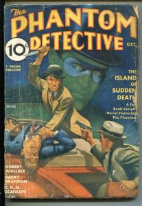 PHANTOM DETECTIVE 10/1935-THRILLING-CRIME-TERROR-HERO PULP-good minus