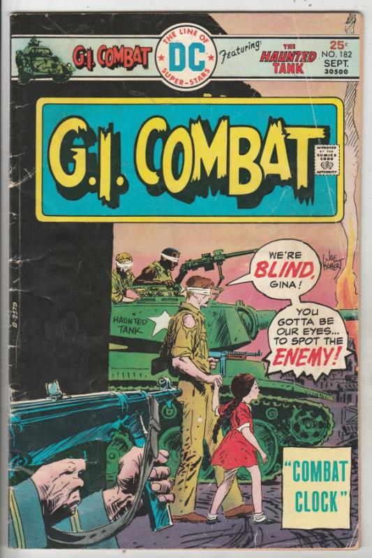 G.I. Combat #182 (Sep-75) VG Affordable-Grade The Haunted Tank