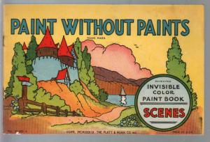Paint Without Paints #0120C 1939-invisible color paint book-VF-