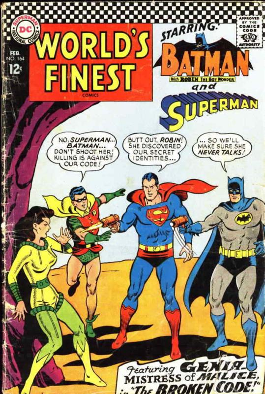 World's Finest Comics #164 FN; DC | save on shipping - details inside