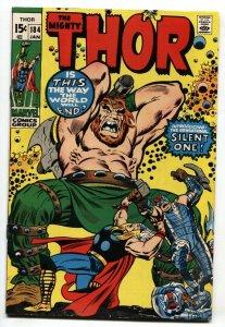 Thor #184 1970 1st SILENT ONE- Marvel Bronze Age FN/VF