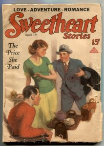 Sweetheart Stories Pulp April 19 1932- Price She Paid VG