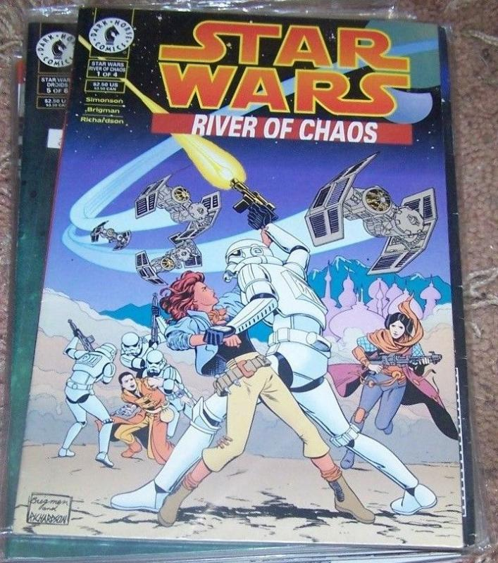 Star Wars: River of Chaos #1 +2 1995, Dark Horse JEDI  PALPATINE EMPIRE REBELS