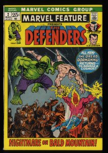 Marvel Feature #2 VF 8.0 White Pages 2nd Defenders!