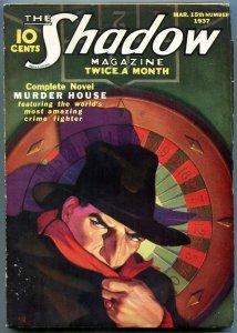 SHADOW PULP-MARCH 15 1937-MURDER HOUSE-HIGH GRADE VF