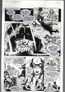 TOD SMITH-ELVIRA #163-CHALLENGE OF SILVER APE-ORIGINAL ART PG 12--QUEEN 'B' FN