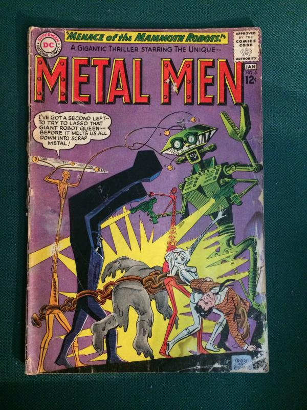 Metal Men #5 GD condition 1964