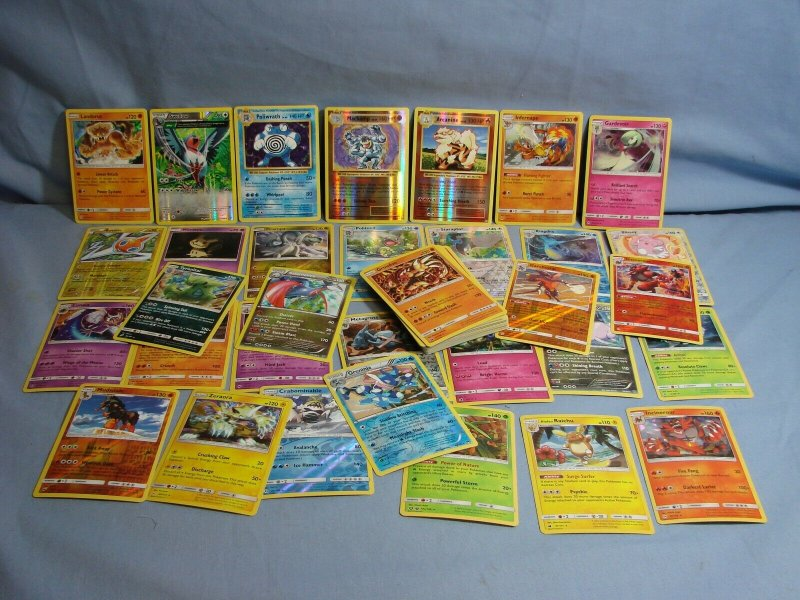 BIG LOT 62 Pokemon TCG Cards RARE HOLO Starters Legendary Sun Moon & More L@@K
