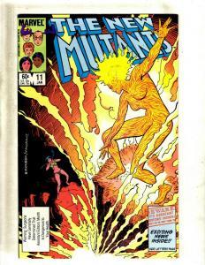 Lot of 12 New Mutants Marvel Comics #11 19 29 33 34 36 37 40 50 51 52 53 J411