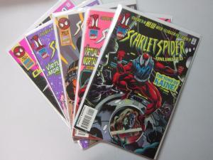 5 Different Scarlet Spider - 8.0 VF - 1995