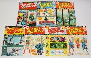 Secret Origins #1-7 FN complete series - superman/batman/wonder woman/flash 1973