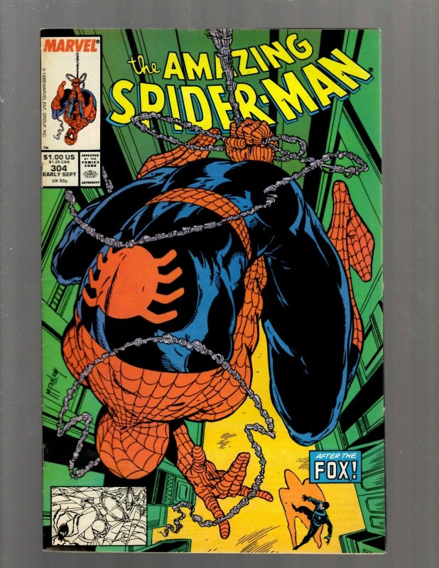 Amazing Spider-Man # 304 VF Marvel Comic Book Todd McFarlane Venom Goblin J450