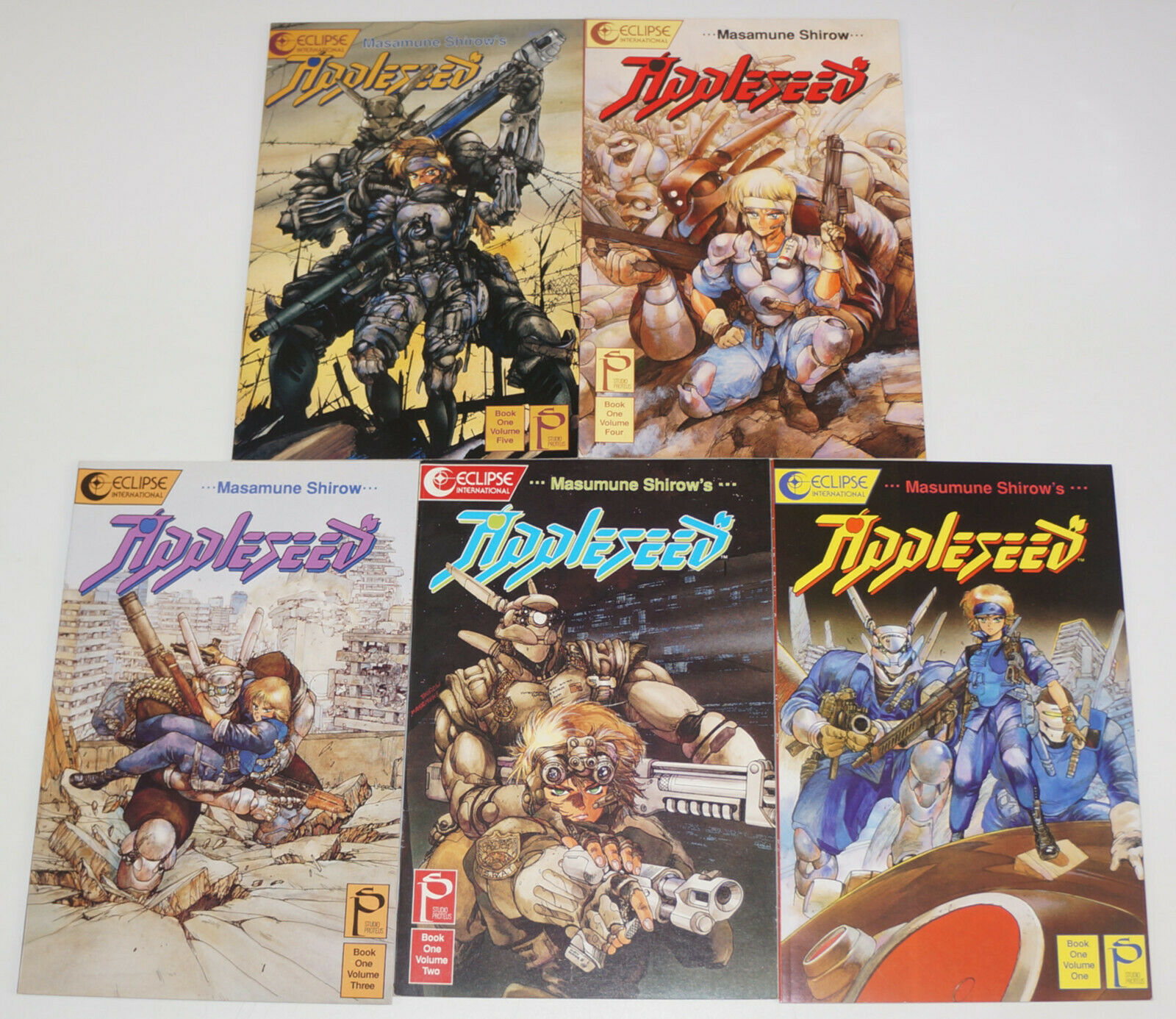 Appleseed Book One 1 5 Vf Nm Complete Series Masamune Shirow Studio Proteus Set Hipcomic