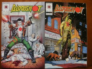 2 Near-Mint Valiant BLOODSHOT #13 Who Killed & #14 Sins of the Father (1994)