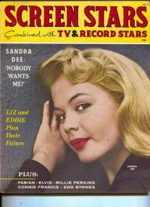 Screen Stars-Sandra Dee-Fabian-Elvis-Connie Francis-Oct-1959