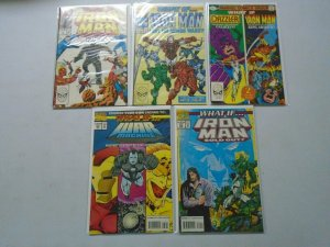 What If? lot 5 different Iron Man issues 8.0 VF
