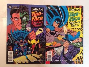 Batman Two Face Strike Twice 1-2 Complete Near Mint Lot Set Run Flipbook