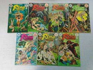 Rima the Jungle Girl set #1-7 avg 7.0 FN VF (1974)