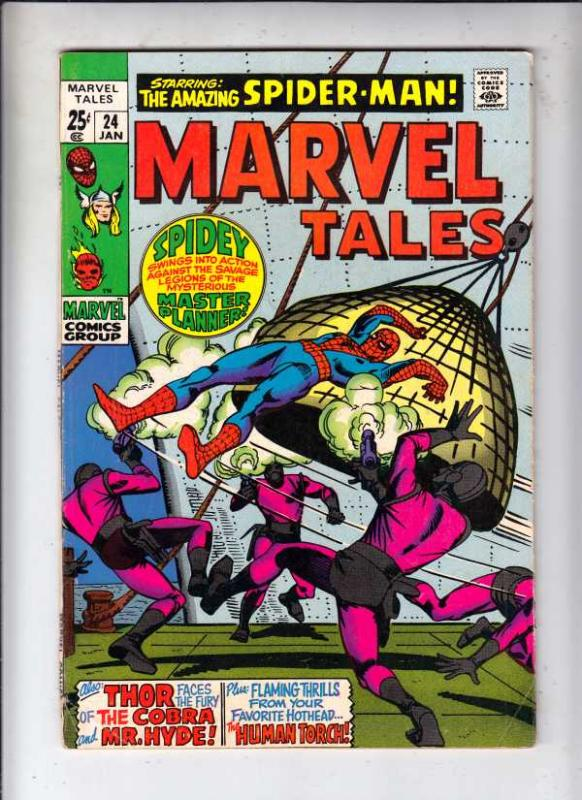 Marvel Tales #24 (Jan-70) FN- Mid-Grade Spider-Man, Thor, Human Torch
