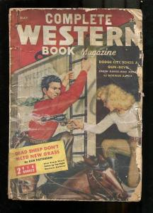 COMPLETE WESTERN PULP-1947-MAY-ROD PATTERSON-GIRL ART FR