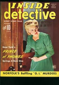 INSIDE DETECTIVE NOV 1943-TRUE CRIME-MURDER FN