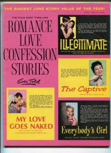 FOUR MOST THRILLING ROMANCE LOVE CONFESSION STORIES EVER TOLD #1 4/1966-SPICYfn+