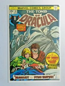 Tomb of Dracula #38 1st Series water stain 5.0 (1975)