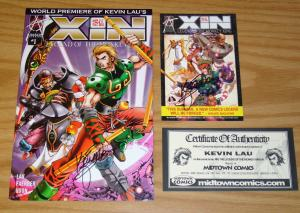 Xin: Legend of the Monkey King #1 VF/NM + postcard signed by kevin lau w/COA