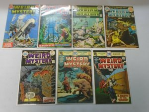 Weird Mystery Tales lot 7 diffrerent from #2-22 avg 4.0 VG (1972 DC Horror)