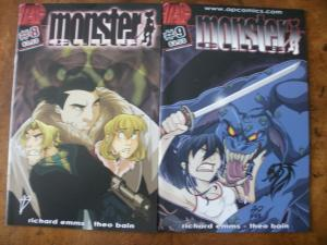 2 AP Comics Comic Book: (2002 2003) MONSTER CLUB #8 & #9