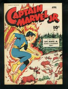 CAPTAIN MARVEL JR. #29-1945-GREAT ART-FAWCETT-RARE-GOLD VF