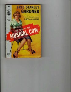 2 Books The Case of the Musical Cow Song Without Sermon Murder Mystery JK9