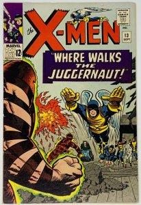 X-Men #13 FN+ 6.5 Marvel Comics 1965. Second Appearance of the Juggernaut.
