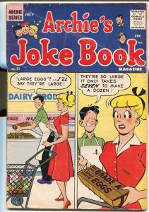 Archie's Joke Book #41 1959-MLJ-Betty-Veronica-wacky cover-VG