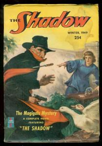 SHADOW PULP WINTER 1949- MAGIGALS MYSTERY SKULL COVER FN