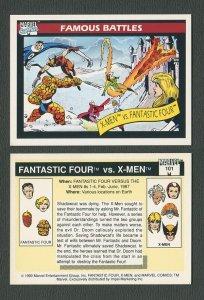 1990 Marvel Comics Card  #101 (X-Men vs Fantastic Four / NM-MT