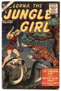 Lorna, The Jungle Girl  #15 1955- Maneely- Jay Scott Pike VG