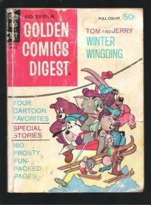 Golden Comics Digest #22 1972-Tom & Jerry-Barney Bear-Droopy -Comics-puzzles-...