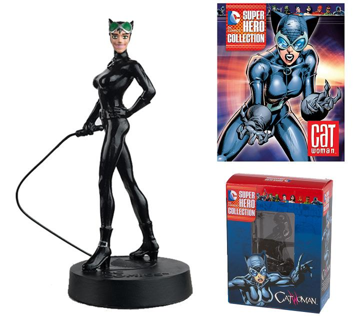 DC Superhero Collection #7 Catwoman Figure w/Booklet (Eaglemoss, 2015) New!