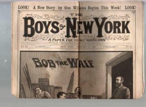 Boys Of New York-Dime Novel-Story Paper #547 2/6/1886-Bob The Waif-G