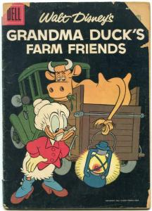 Four Color Comics #763 1957- Grandma Ducks Farm Friends G