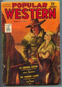 Popular Western Pulp January 1944-Canadian edition VG-