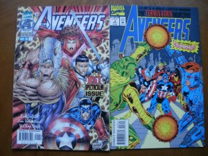 2 Near-Mint Marvel Comic: AVENGERS #1 (1996) & THE TERMINATRIX OBJECTIVE #3 1993