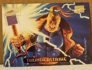1994 Marvel Masterpieces Gold Foil Signature Series #125 Thunderstr/Hildrebrandt