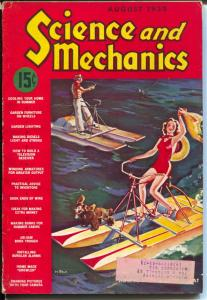 Science and Mechanics 8/1939-standard pulp magazine format-swimsuit-VG